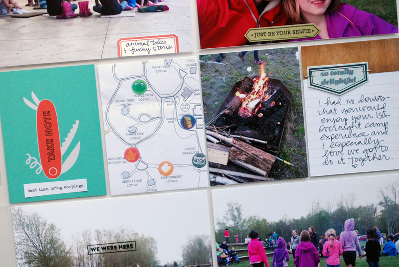 Project Life : Girl Scout Camp Weekend | Nicole Reaves