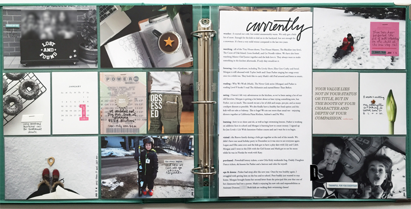 Project Life : January 2016 | Nicole Reaves