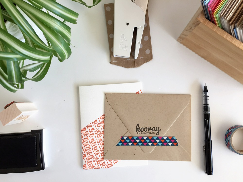 Hooray for Happy Mail stamp | Nicole Reaves