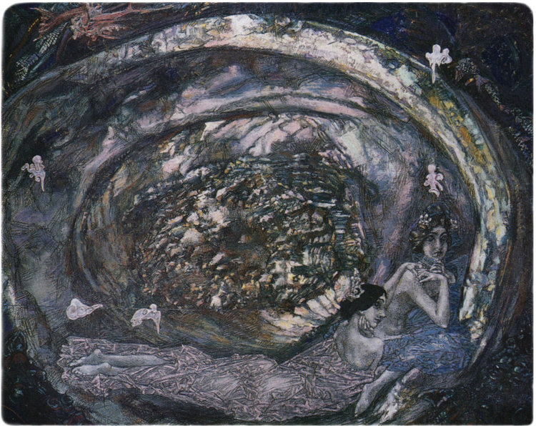 MIKHAIL VRUBEL ,  PEARL OYSTER , 1904