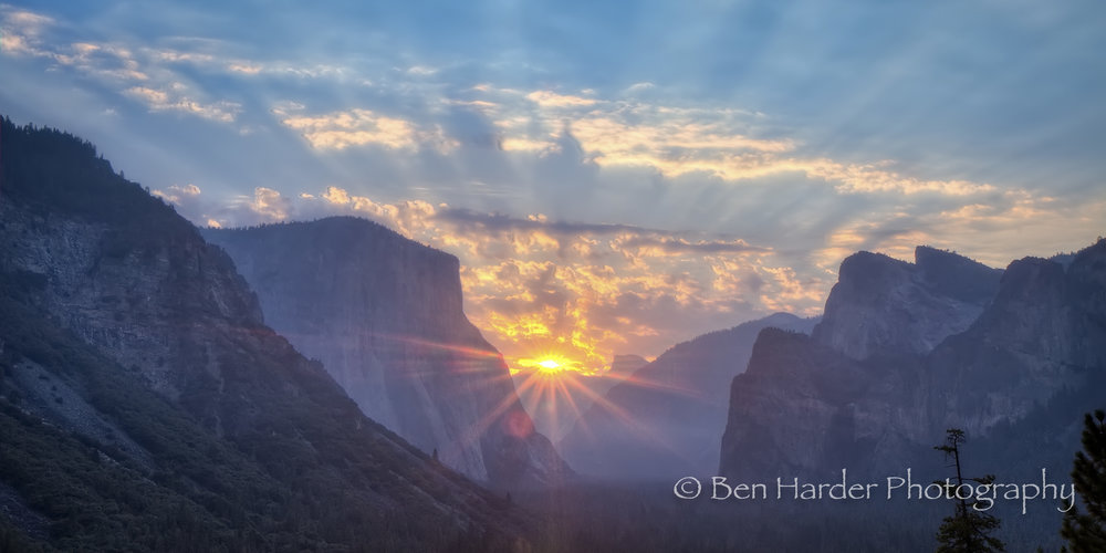 """Rays"" - Yosemite National Park, CA"