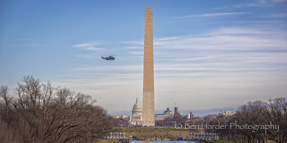 Presidential Helicopter over the mall