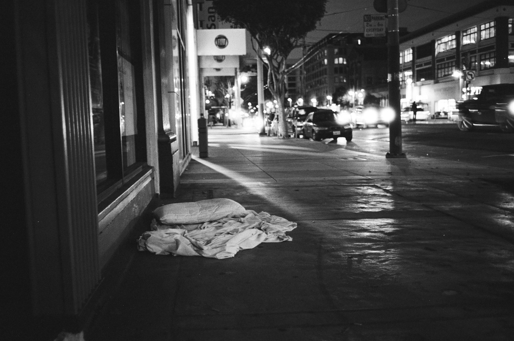 Abandoned bed on Van Ness.