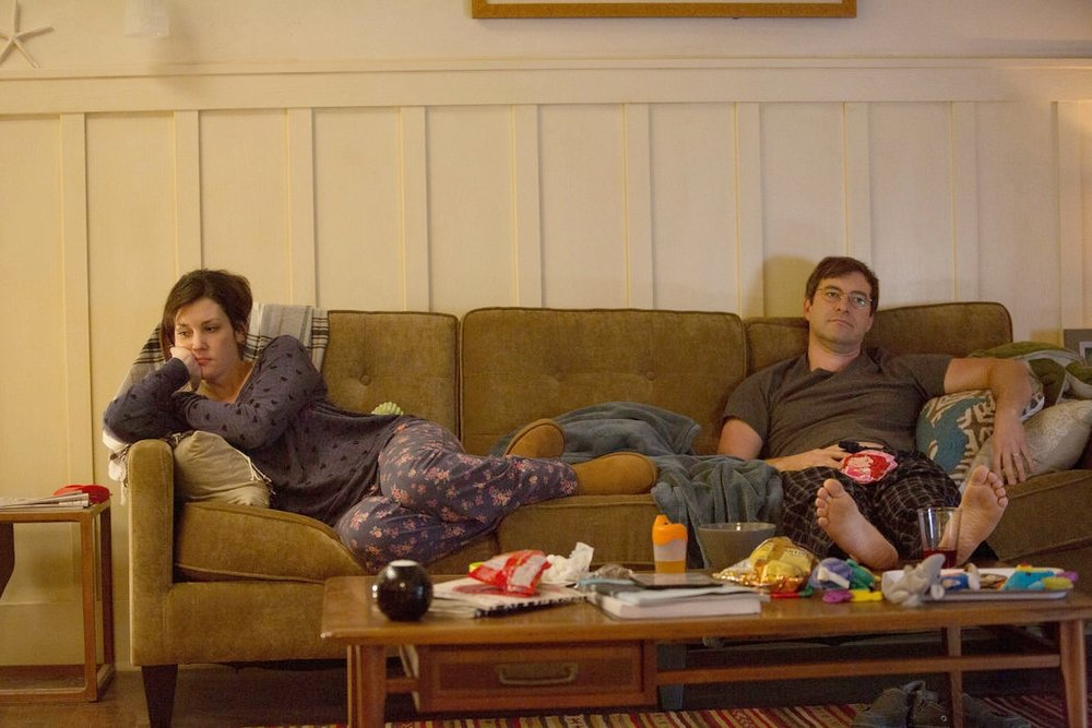 "Melanie Lynskey & Mark Duplass in HBO's ""Togetherness"""
