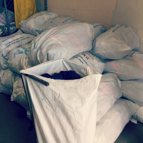 100 clothing bags go to Melbourne each week and are sent to people in need