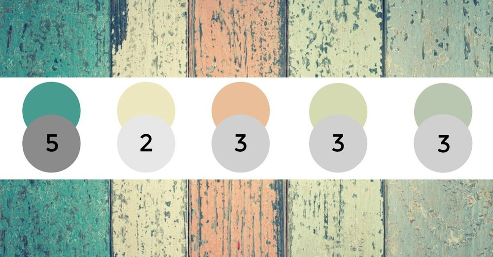 One of these is not like the others:  When one element is significantly different tonally to the rest of the space, it feels out of place - much like this green colour, which is quite a bit darker. Removing it will create harmony,