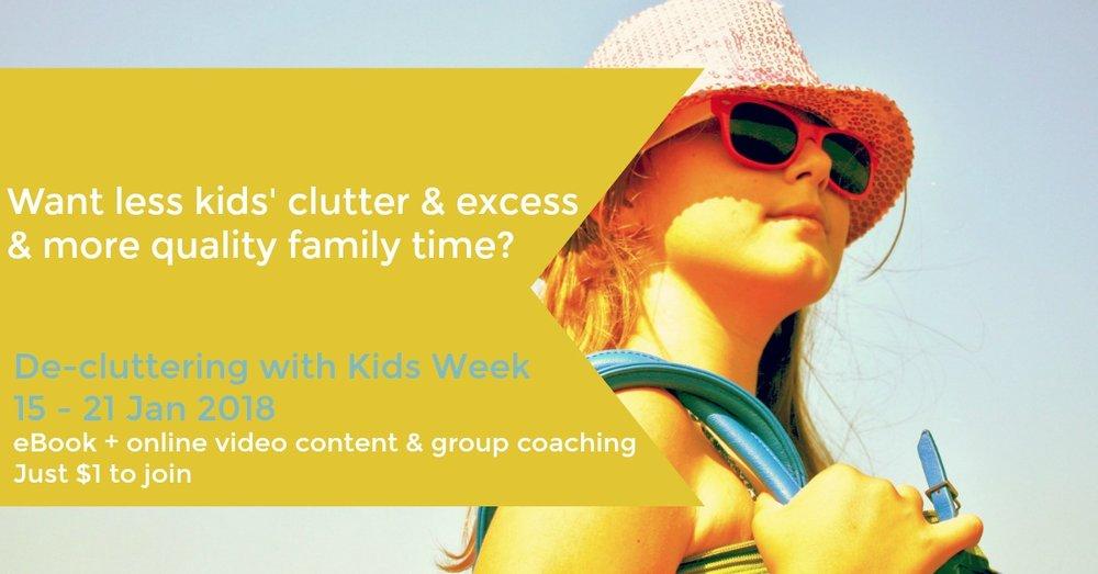 De-cluttering with kids Week 2018
