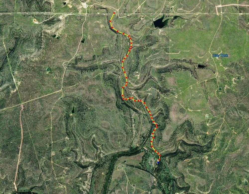 Map of Ranger Creek watershed