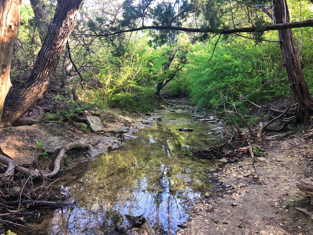 Another creek that eventually empties into Joe Pool Lake.