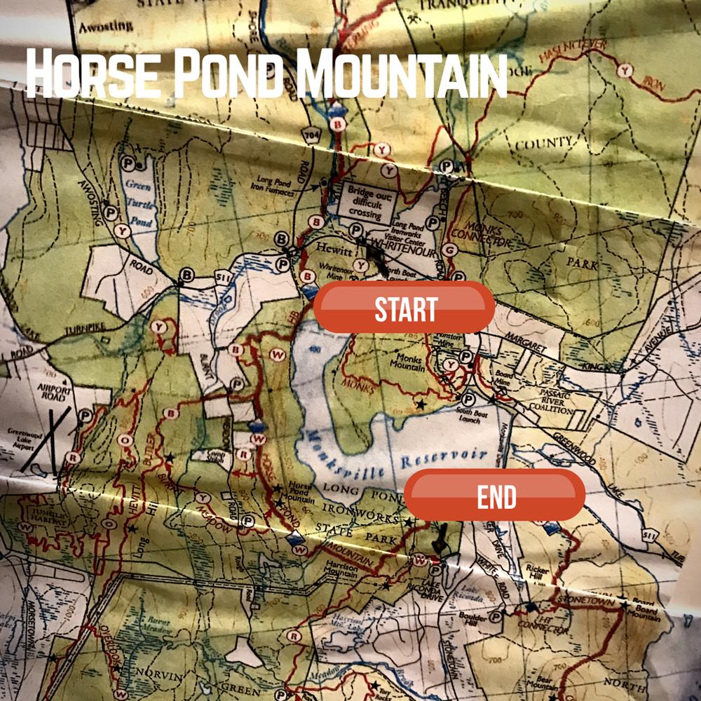 Author's interpretation of trail map