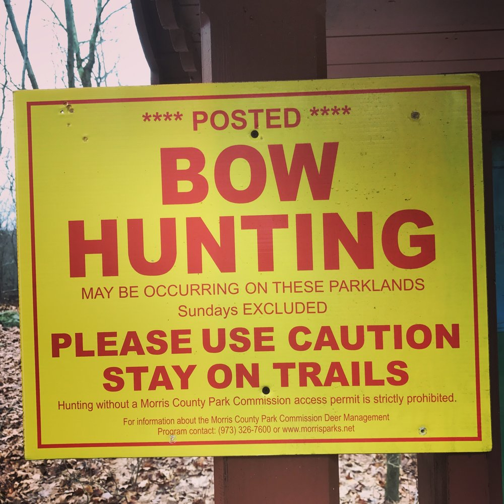 watch out for bow hunting unless it is Sunday