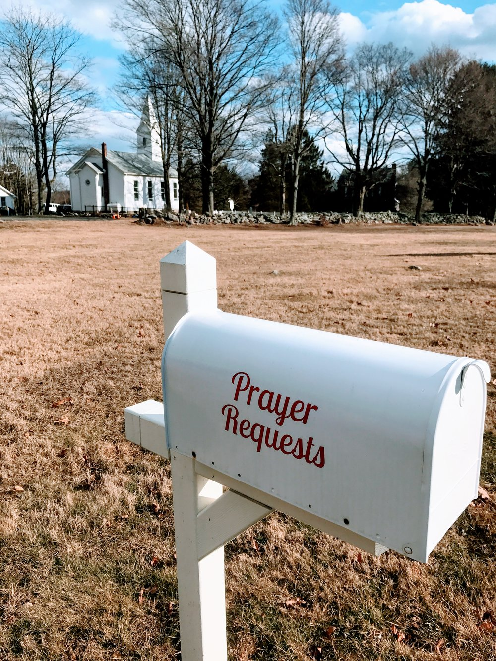 Drop off your prayers. No stamp required.