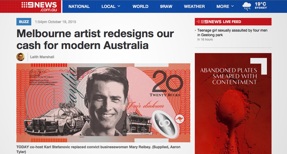 http://www.9news.com.au/entertainment/2015/10/19/13/42/melbourne-artist-redesigns-our-cash-for-modern-australia