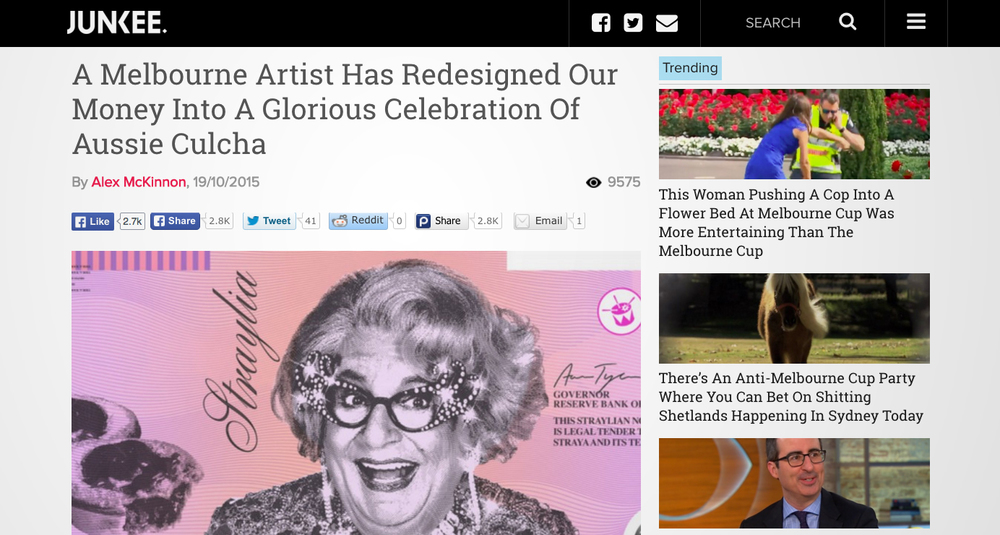 http://junkee.com/a-melbourne-artist-has-redesigned-our-money-into-a-glorious-celebration-of-aussie-culcha/67570