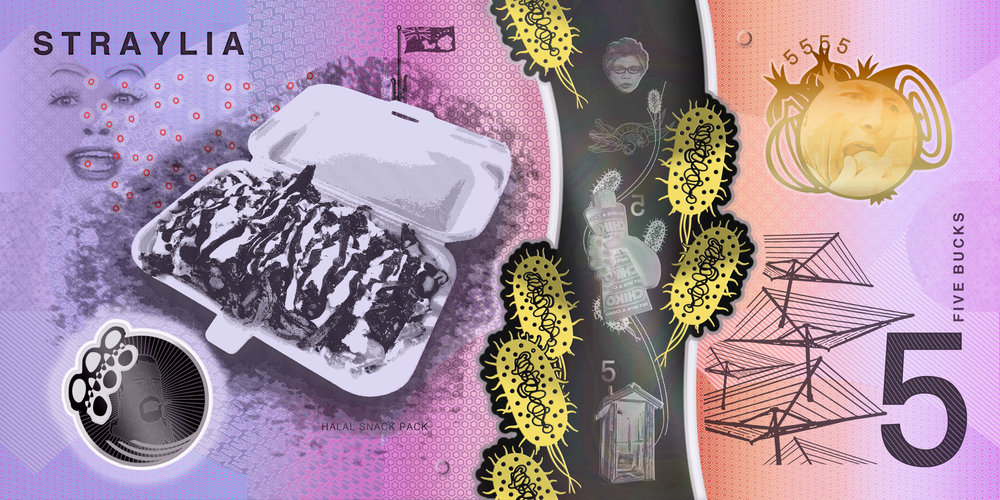 Features: Halal snack pack(HSP), Mulligrubs, Onion eating hologram, Hills Hoist