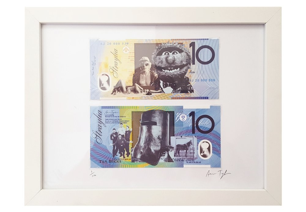 Click to purchase the $10 STRAYA CASH print.