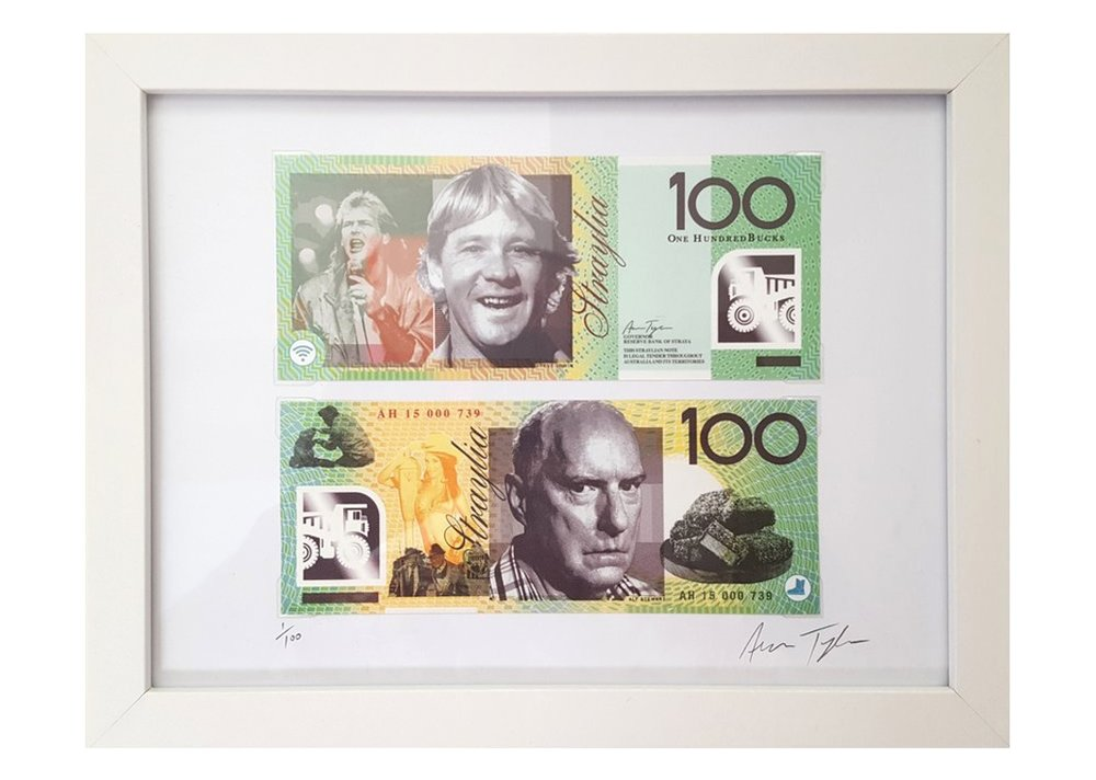 Click to purchase the $100 STRAYA CASH print.