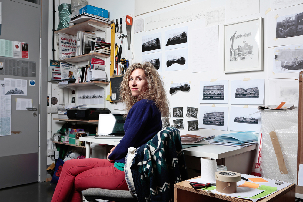 Jessie Brennan in her studio, 2014, Image Credit: Patrick Marks assisted by Max Mudie