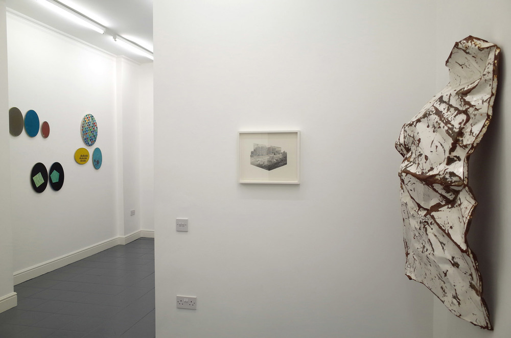 Jessie Brennan_A Brutal Story 2014_Steel acrylic paint and rust_117 x 67 x 31 cm_installation view_dalla Rosa gallery.jpg