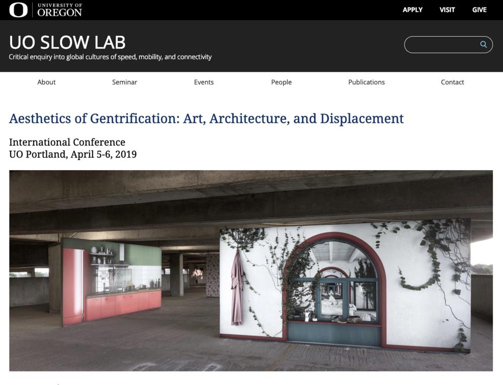 Aesthetics of Gentrification International Conference