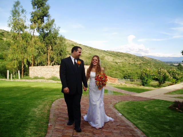 Our wedding day in Bolivia in 2006