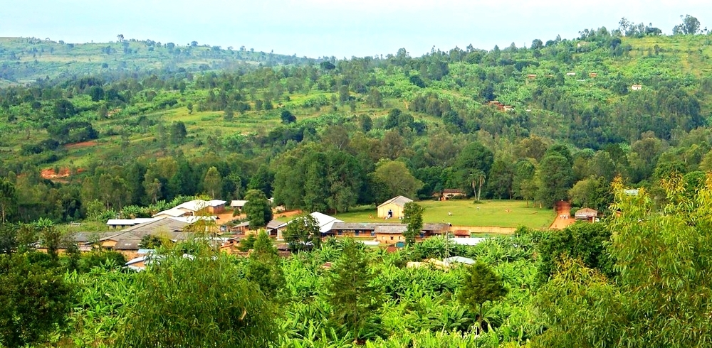 Kibuye Hope Hospital from a nearby hillside