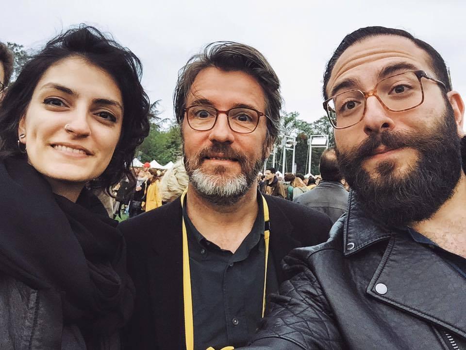 Nasri Atallah and Nour Hage with Olafur Eliasson.