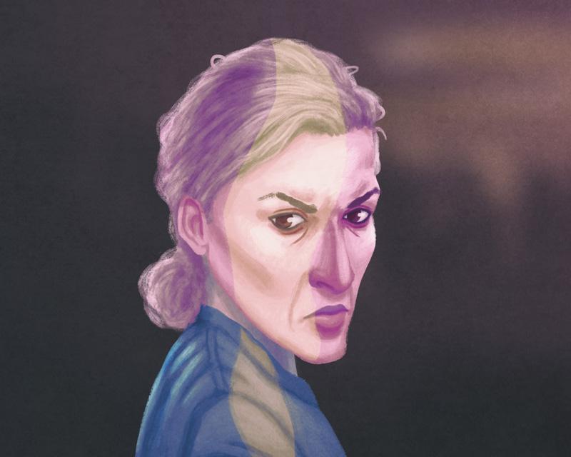 De Servische vrouw die het oude huis van Fata ingepikt heeft.