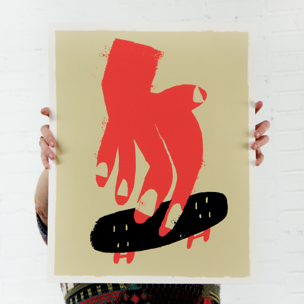 Finger Boarding  16x20 Screenprint.  $25.00