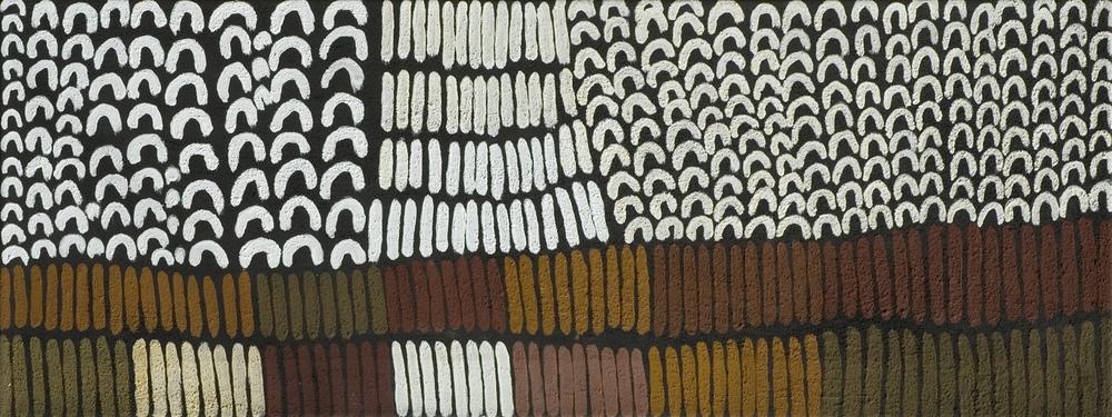Lena Nyabi du centre d'art de Warmun - toile présentée à Eurantica