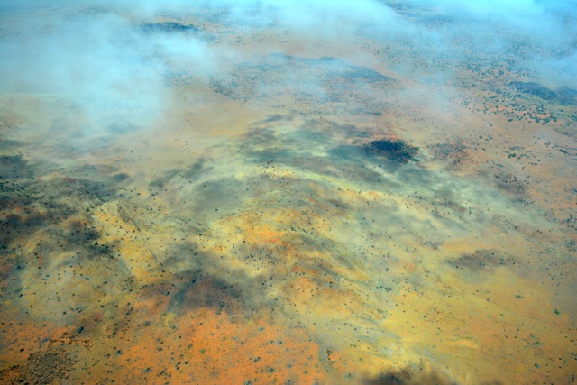 Vue du désert du APY land