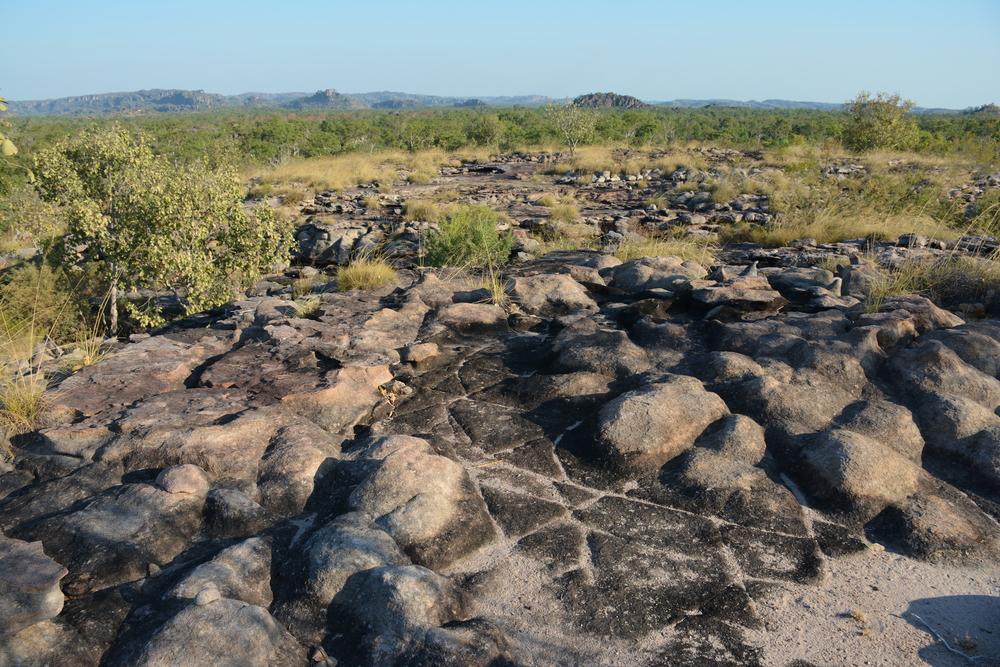 Vue du parc du Kakadu et signes