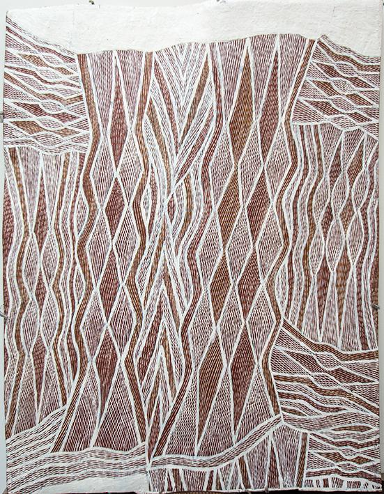 Peinture aborigène de Napuwarri Marawili