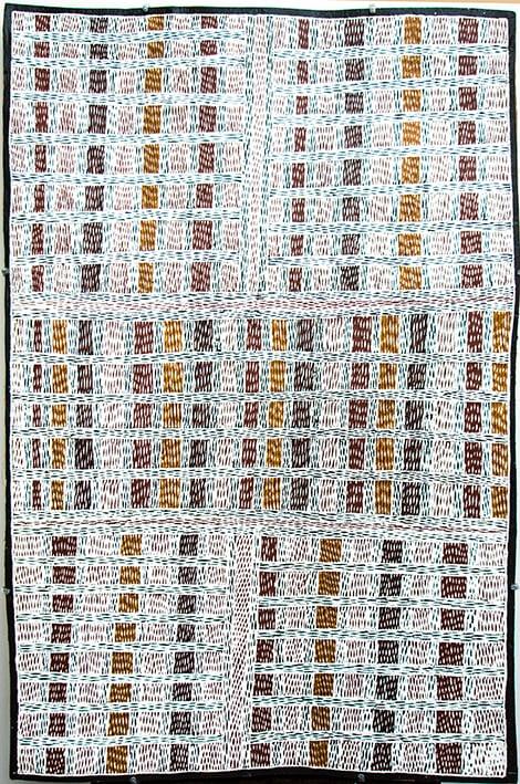 Peinture aborigène de Marrnyula Munungurr