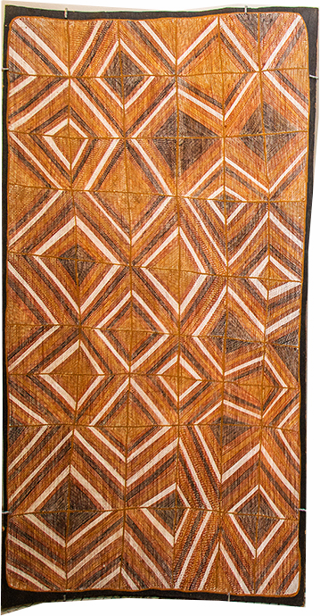 Aileena Lamanga. Format : 151.5x77.5cm. Titre : Wak Wak © with the courtesy of Maningrida Arts.