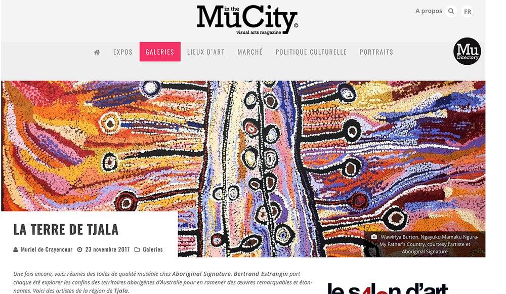 mu-inthecity exposition d'art aborigène sur Tjala art