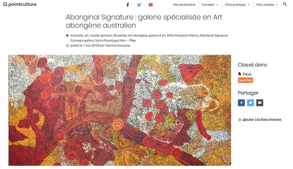 Point Culture : Aboriginal Signature Estrangin gallery