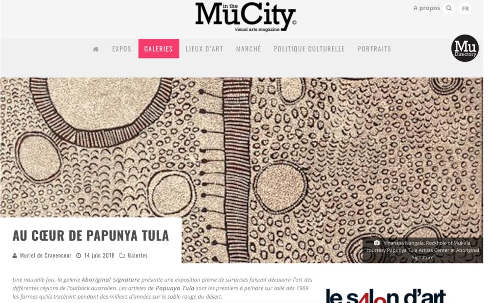 Papunya Tula exhibition Bruxelles