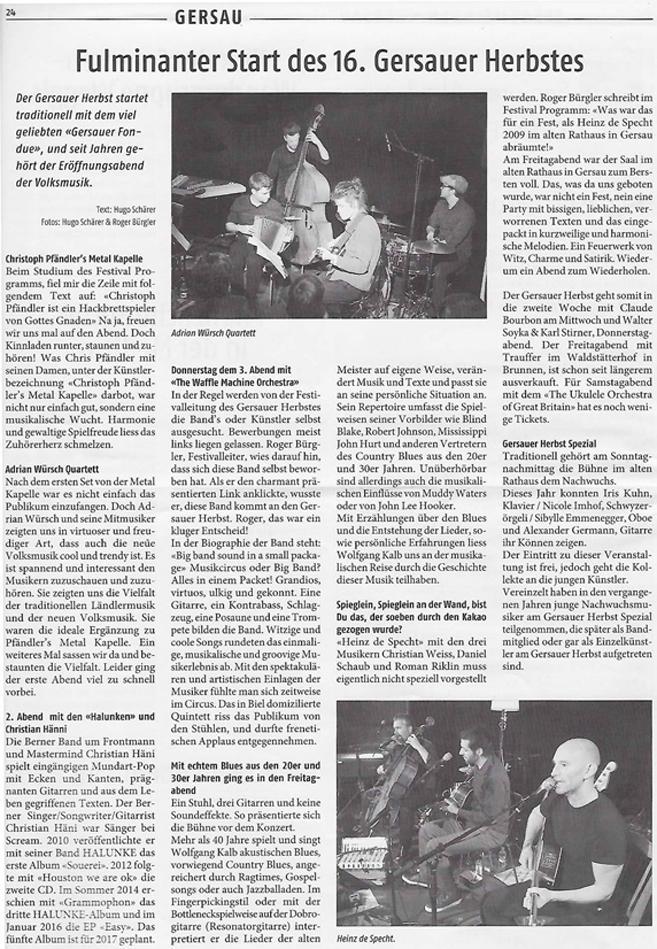 Wochen-Zeitung Gersau vom 21.11.16