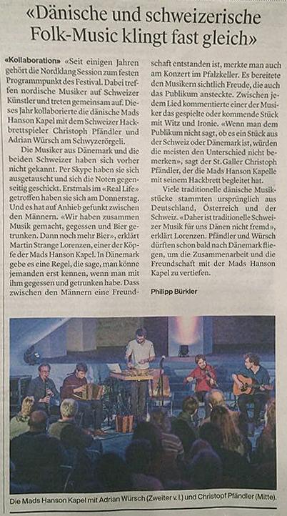 St.Galler Tagblatt vom 26.02.2018