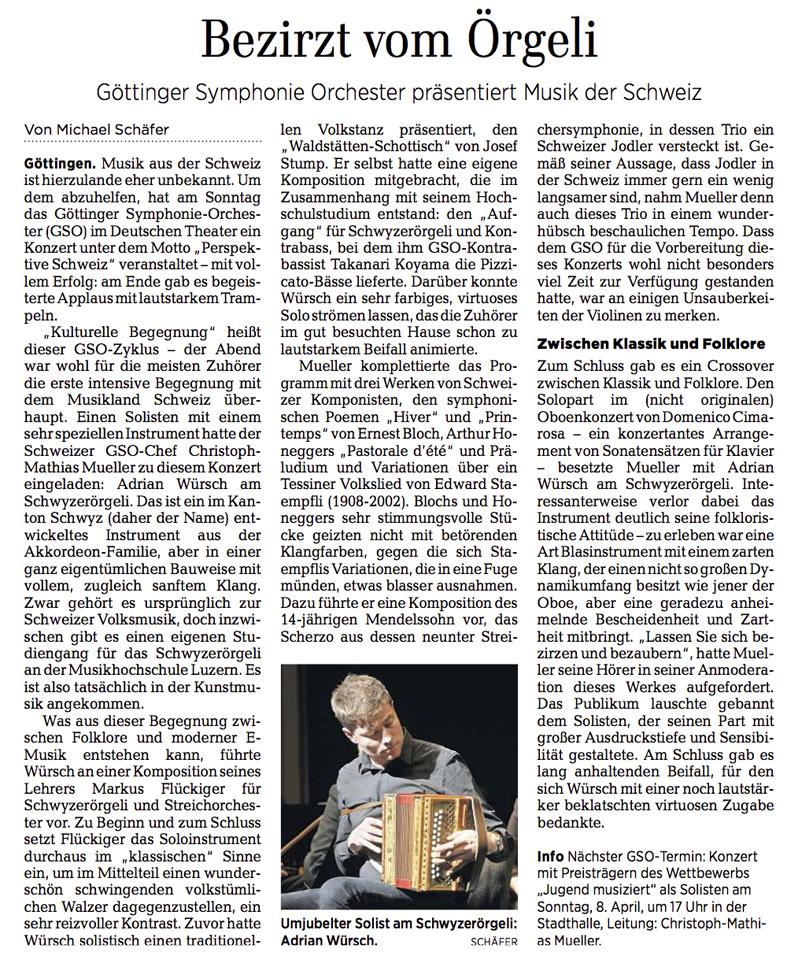 Göttinger Tagblatt vom 19.03.2018