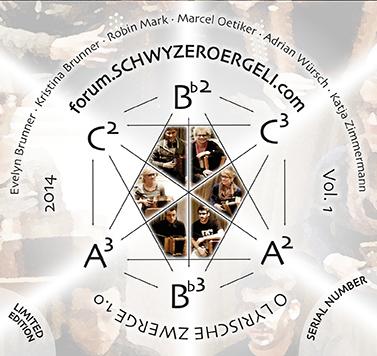 O LYRISCHE ZWERGE 1.0 - Das Erstlingswerk des forum.schwyzerörgeli.ch mit einer Komposition für 6 Schwyzerörgeli von Marcel Oetiker.total time: 1:07:00release: 2014Zu bestellen auf der Website des Forums.