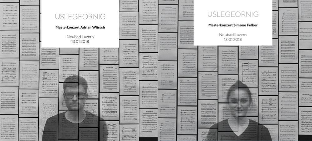 USLEGEORNIG DOPPELPACK - Beide Alben von Adrian Würsch und Simone Felber mit dem gemischten Livemitschnitt des gesamten Masterkonzerts USLEGEORNIG vom 13.01.2018 im Neubad Luzern.Preis: 30.00 CHF (zzgl. 2.00 CHF Versandkosten innerhalb CH)
