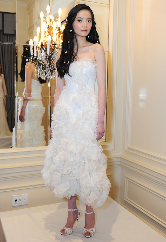 marchesa-tea-length-organza-ruffled-wedding-dress