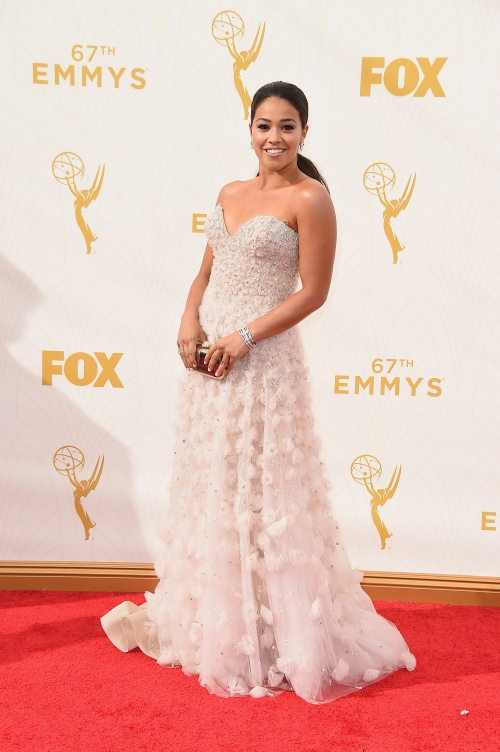 LOS ANGELES, CA - SEPTEMBER 20:  Actress Gina Rodriguez attends the 67th Annual Primetime Emmy Awards at Microsoft Theater on September 20, 2015 in Los Angeles, California.  (Photo by Steve Granitz/WireImage)
