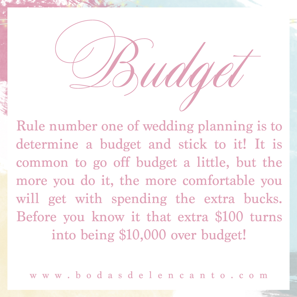 Wedding Tip Budget