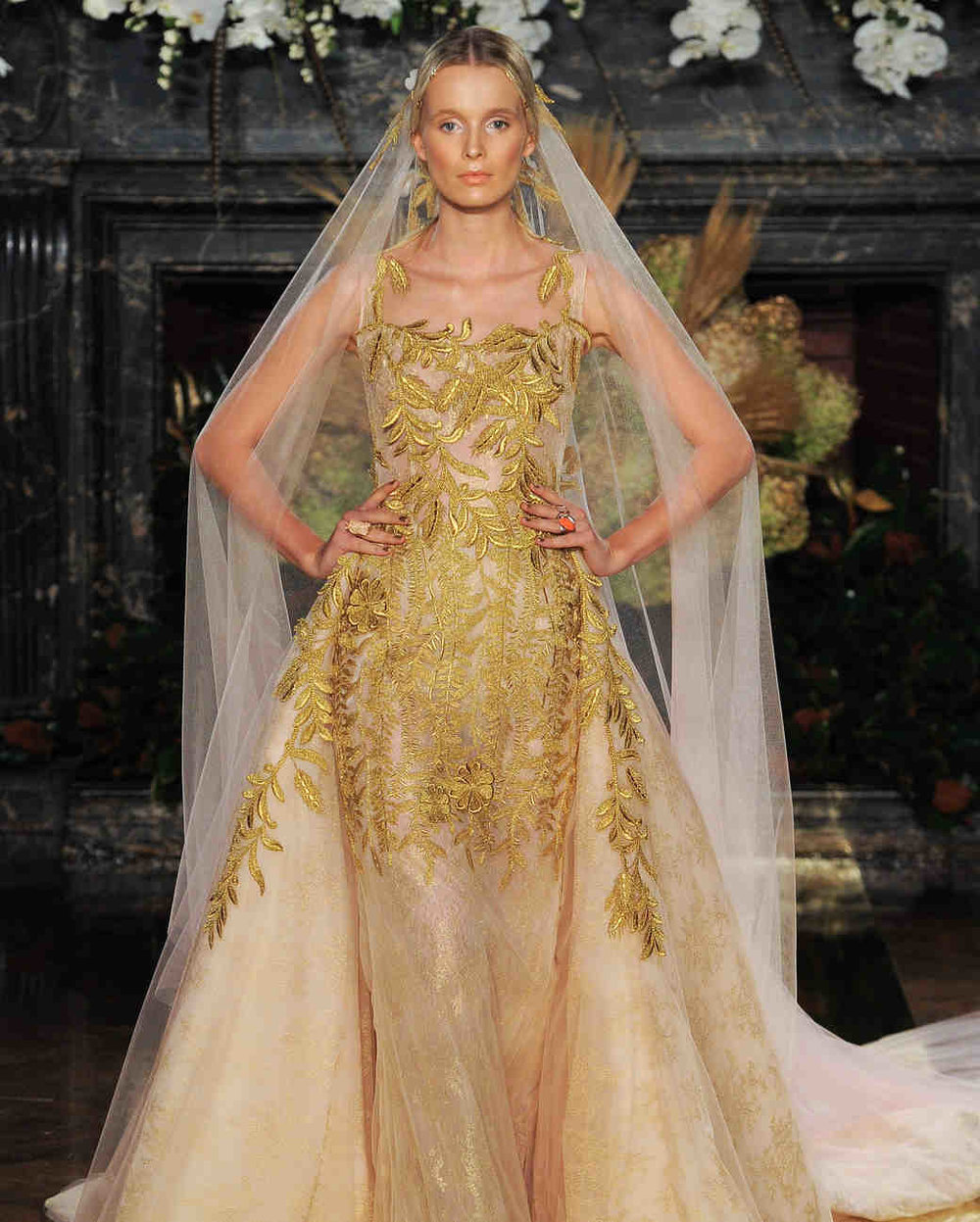 Top 10 trends from bridal fashion week fall 2017 edition for Fall wedding dress colors