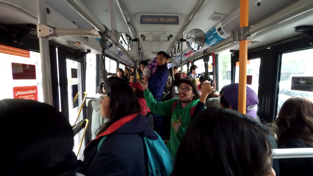 Rap in a bus? Yes please.