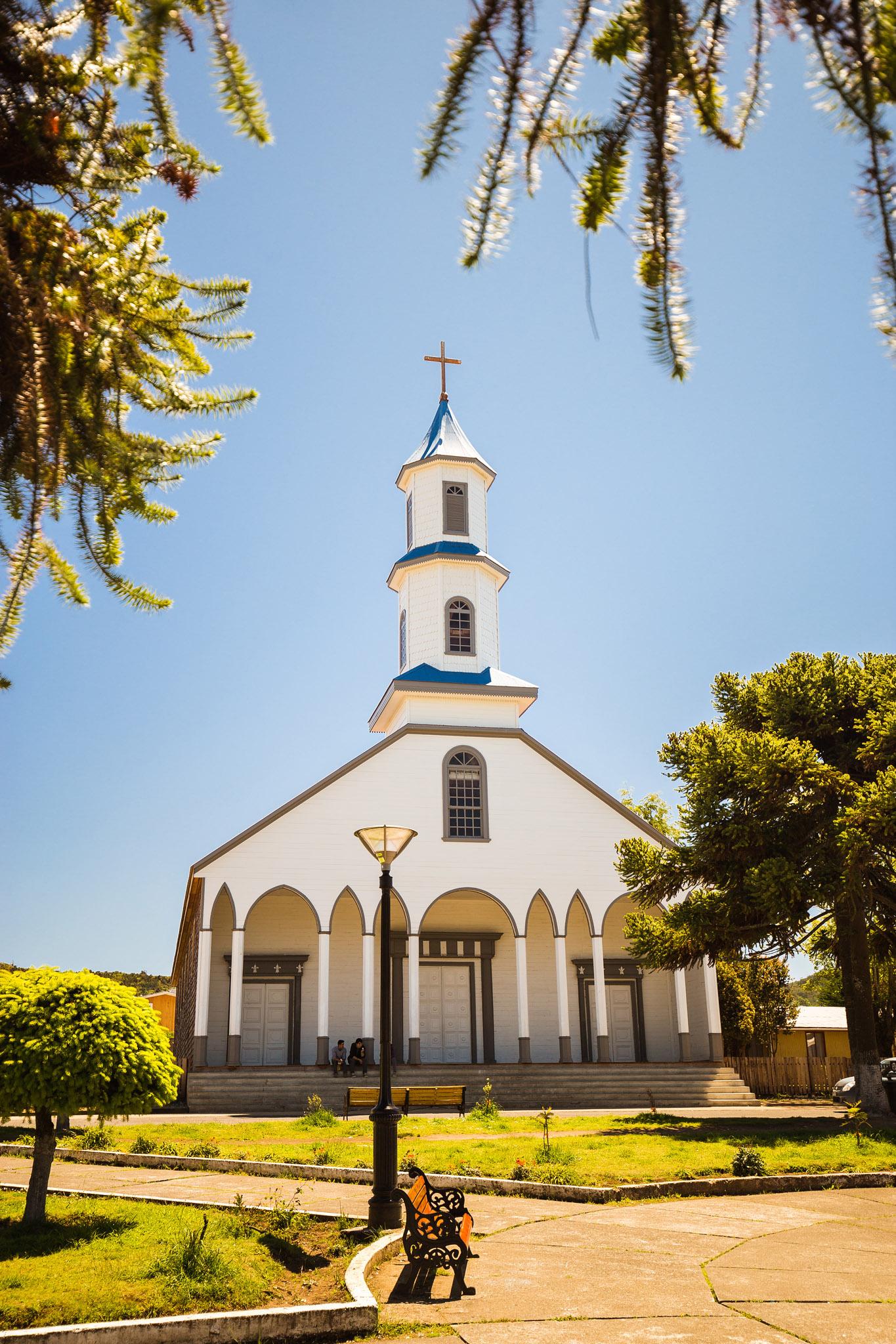 Wooden church in Dalcahue, Chiloé