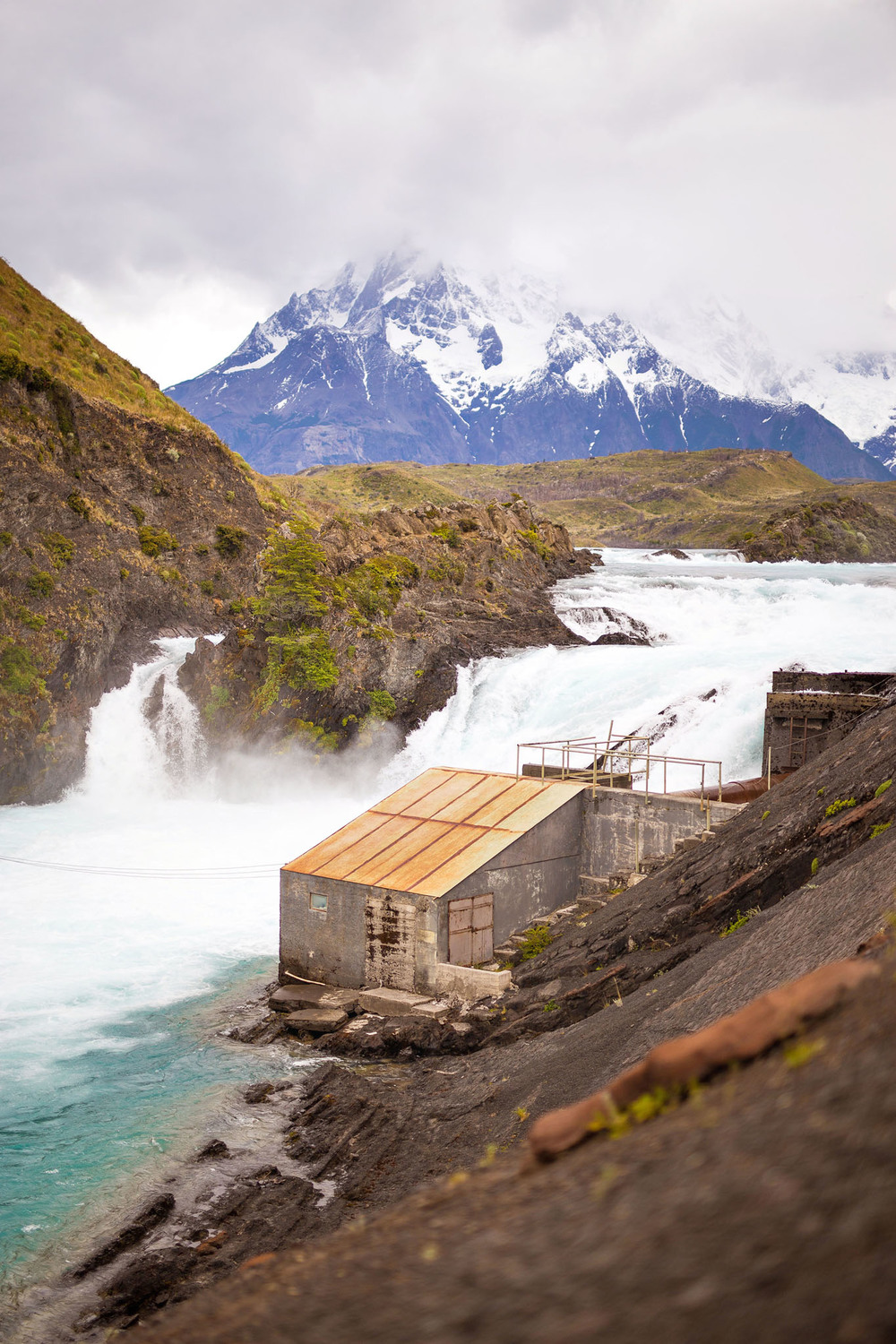 Wedding-Travellers-Overlanding-Destination-Wedding-Chile-Torres-del-Paine-ugly-building-salto-chico-small-waterfall